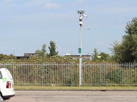 Surveillance cameras on the perimeter